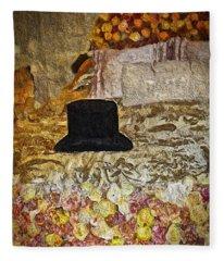 Black Top Hat Fleece Blanket