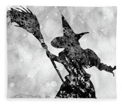 Wicked Witch-black Fleece Blanket