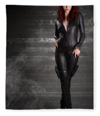 Black Widow Fleece Blanket