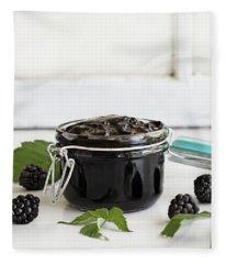 Blackberry Preserves And Fruit Fleece Blanket