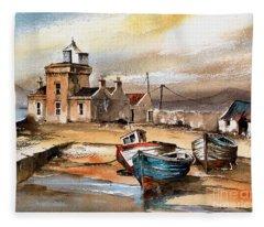 Blacksod Lighthouse, Mayo Fleece Blanket