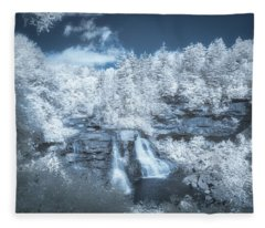 Blackwater Falls In Infrared Fleece Blanket