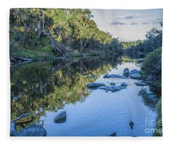 Blackwood River Rocks, Bridgetown, Western Australia Fleece Blanket
