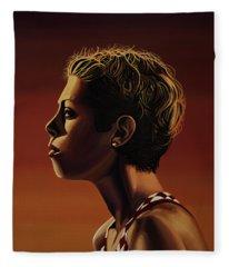 Blanka Vlasic Painting Fleece Blanket