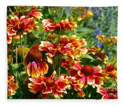 Blanket Flowers Fleece Blanket