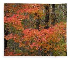 Blaze Of Autumn Fleece Blanket