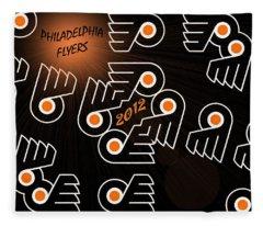 Bleeding Orange And Black - Flyers Fleece Blanket