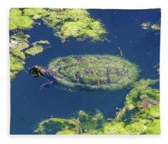 Blending In Turtle Fleece Blanket