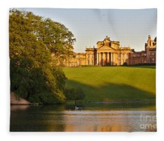 Blenheim Palace And Lake Fleece Blanket
