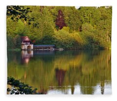 Blenheim Palace Boathouse 2 Fleece Blanket