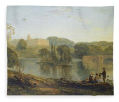 Blenheim Palace From The Lake Fleece Blanket