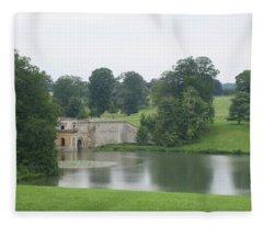 Blenheim Palace Lake Fleece Blanket