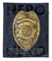 Police Fleece Blankets
