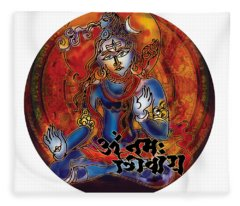 Blessing Shiva Fleece Blanket