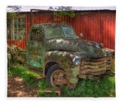 Blind In One Eye 1947 Chevy Flatbed Truck Art Fleece Blanket