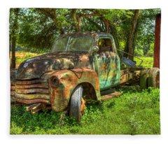 Blind In One Eye2 1947 Chevy Flatbed Truck Fleece Blanket