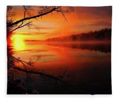 Blind River Sunrise Fleece Blanket