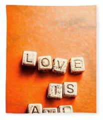 Block Quotes On Love Is All  Fleece Blanket