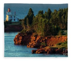 Blockhouse Point Lighthouse Fleece Blanket