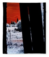 Blood And Moon Fleece Blanket