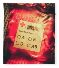 Blood Donation Bag Fleece Blanket