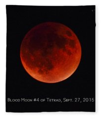 Blood Moon #4 Of Tetrad, Without Location Label Fleece Blanket