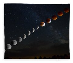 Blood Moon Lunar Eclipse Fleece Blanket
