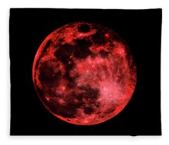 Blood Red Moonscape 3644b Fleece Blanket
