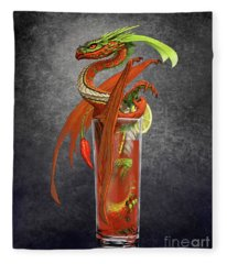 Bloody Mary Dragon Fleece Blanket