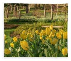 Bloomin Tulips Fleece Blanket