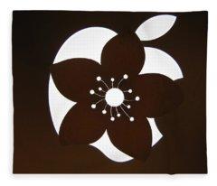 Blooming Apple Mac Fleece Blanket