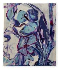 Blooming Blues Fleece Blanket