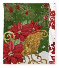 Blooming Christmas I Fleece Blanket