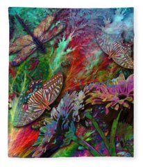 Blooming Color Fleece Blanket