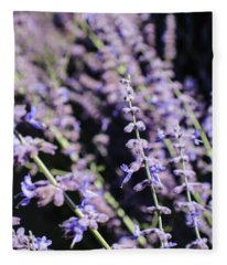Blooming Lavender  Fleece Blanket