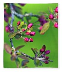 Blooming Spring Poetry Fleece Blanket