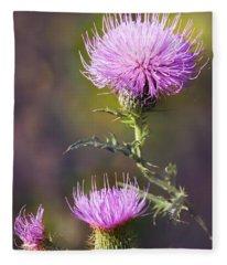 Blooming Thistle Fleece Blanket