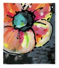 Blooming Wildflower- Art By Linda Woods Fleece Blanket