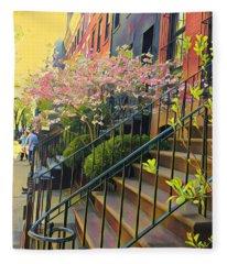 Blooms Of New York Fleece Blanket