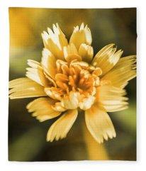 Blossoming Dandelion Flower Fleece Blanket