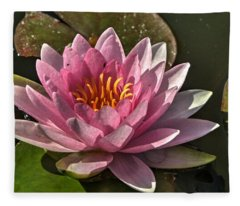 Blossoms And Lily Pads 5 Fleece Blanket