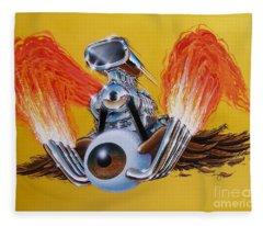 Blown Eyeball Fleece Blanket