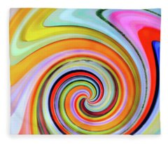 Blown Glass Artwork Fleece Blanket