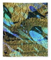 Blue Abstract Art - Deeper Visions 2 - Sharon Cummings Fleece Blanket