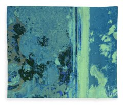 Blue Abstraction Fleece Blanket