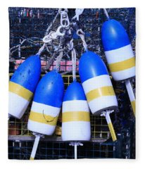 Blue And Gold Bouys Fleece Blanket