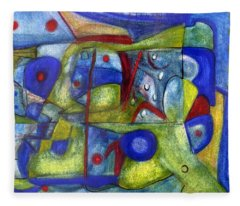 Blue And Green At Night Fleece Blanket