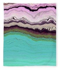 Blue And Lavender Fleece Blanket