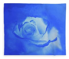 Blue And White Arising Fleece Blanket