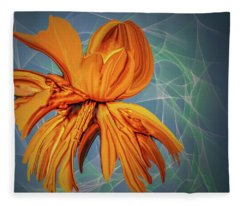Blue And Yellow #h6 Fleece Blanket